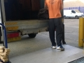 Our driver managing a tail lift