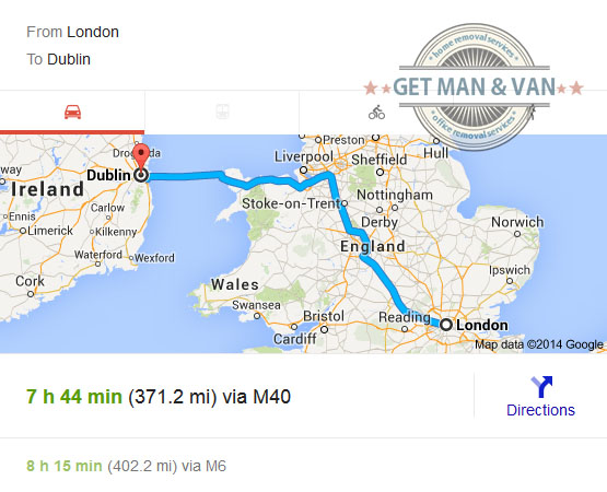 Removals to Dublin from London
