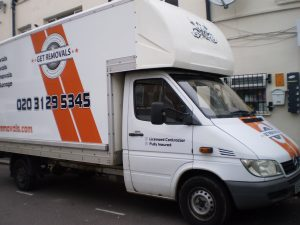 Luton moving Van on the Street