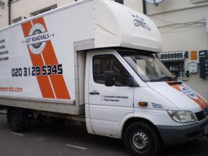 Luton moving Van on the Street