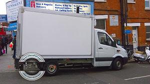 Bellingham parked removal van