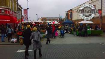 Open market in Dalston
